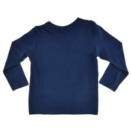 Bluzka dla dzieci z długim rękawem Cars Auta granatowa