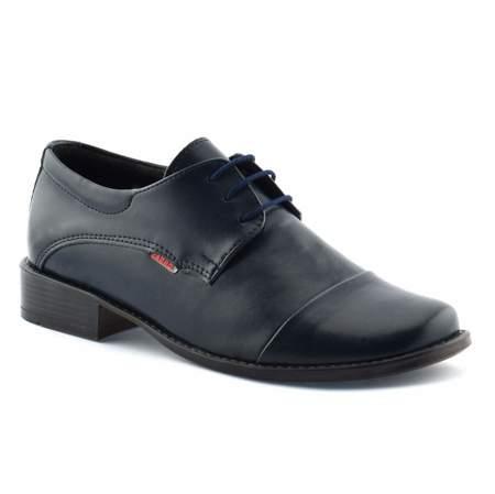 Granatowe buty komunijne dla chłopca Zarro 2073