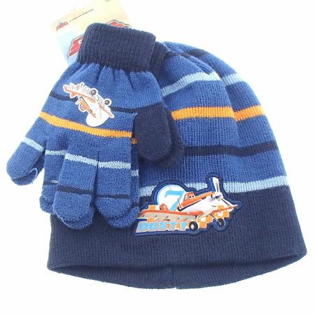 Komplet zimowy dla dzieci- czapka i rękawiczki Planes Samoloty