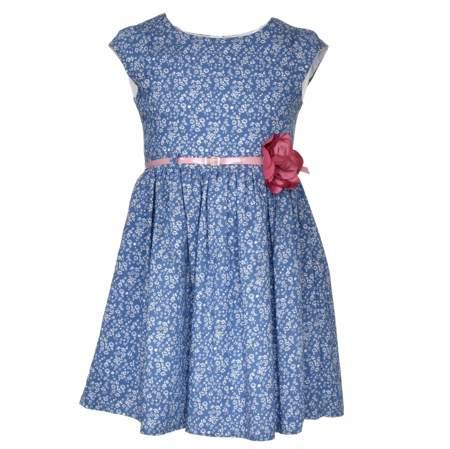 Kwiecista sukienka dla dzieci z paskiem