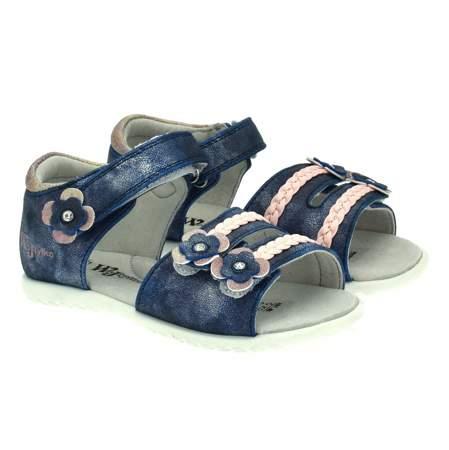 Sandały dla dzieci Wojtyłko 1139 Granatowe