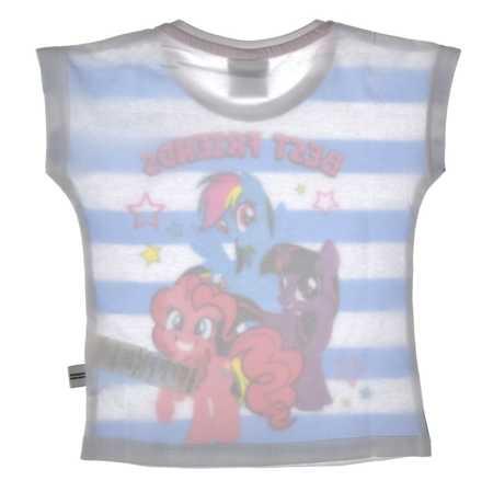T-shirt dziecięcy My Little Pony niebieski w paski